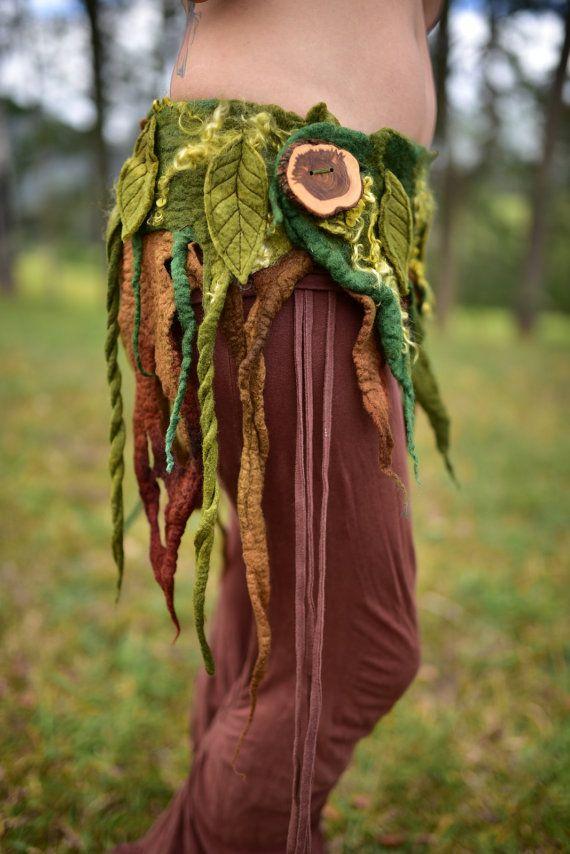 Sentía el árbol raíces correa diosa ninfa falda Pixie Reina