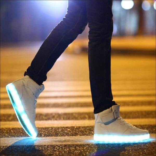 light shoes led shoes Men Women Light up new shoes simulation flashing skate basket led shoes glow in the dark