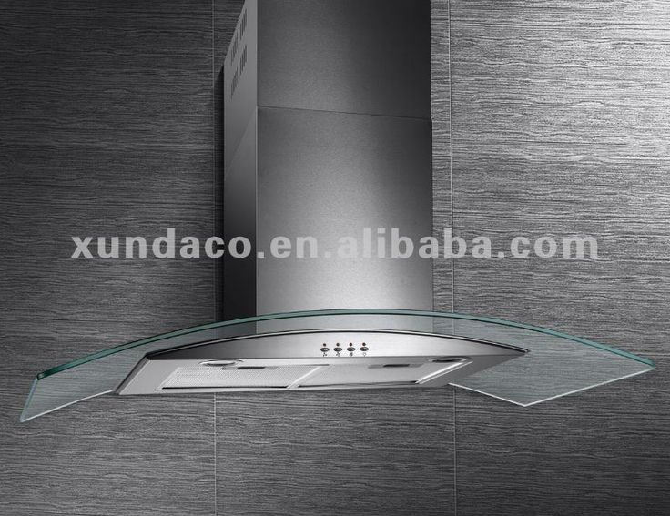 Stainless steel body + tempered glass surface range hoods cook hoods island hood