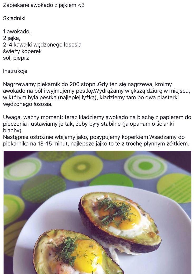 Zapiekane awokado z jajkiem