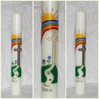 Kommunionkerze - Der Weg - Artikeldetailansicht - Handgefertigte Kerzen Kaufen - Taufkerzen & Hochzeitskerzen Selbst Gestalten (Beauty Day Candle)