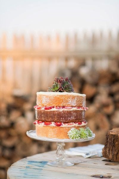 simple naked cake ~ Tin Roof Farmhouse: Wedding Trends for 2014…Naked Cakes
