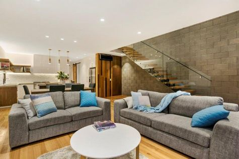 Contemporary Industrial Living Room  31A Noble Street Barwon Heads - New Home Builder Geelong and Surfcoast - Living Edge Properties