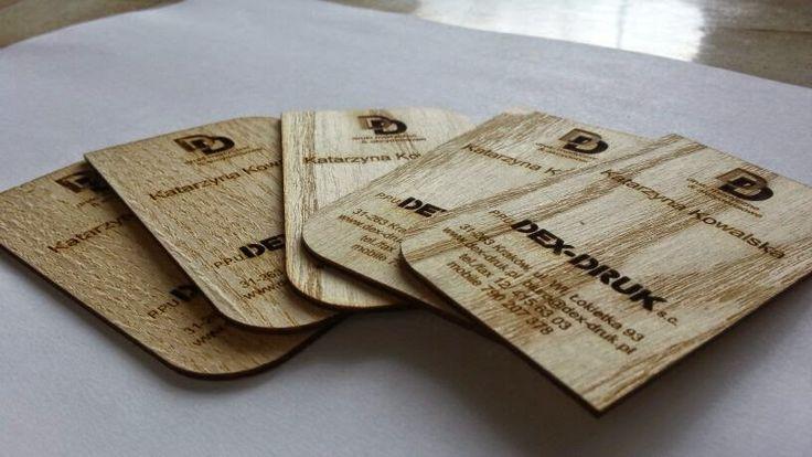Dex- Druk Wood Business Cards originali e dal design unico.  info@dex-druk.pl