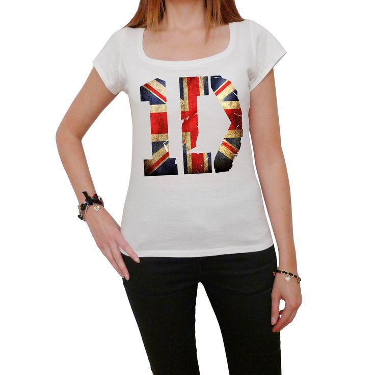 1D One Direction Union Jack Flag: Women's T-shirt picture celebrity