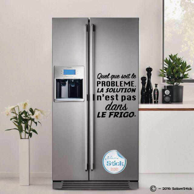 Quelque soit le problème, la solution n'est pas dans le frigo !