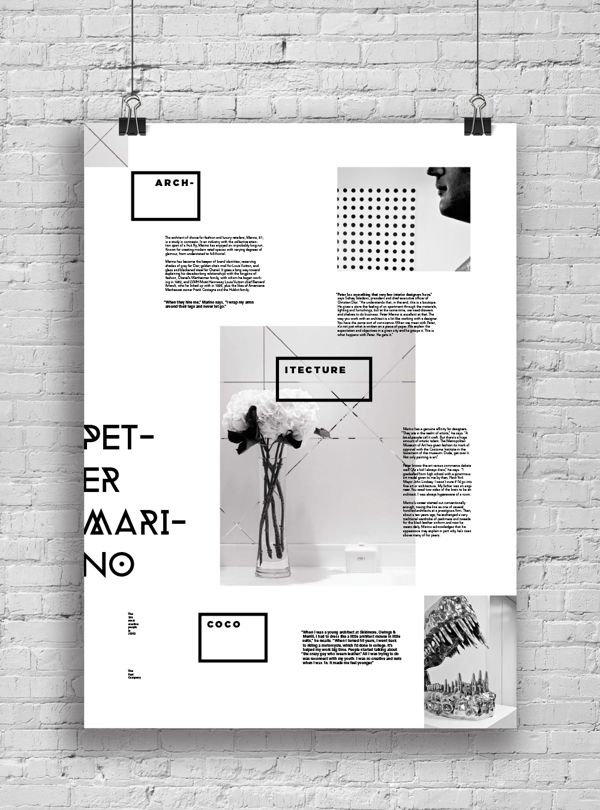 Informative Poster System by Marina Zertuche, via Behance