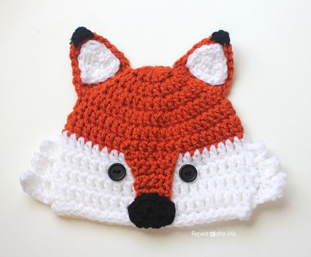 Crochet Fox Hat - Repeat Crafter Me Don't tell Henry, but he is getting this from me for Christmas; SUPER CUTE!