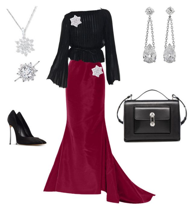 """#winterWonderland"" by corinna-smith-lockamy on Polyvore featuring Oscar de la Renta, Tom Ford, Casadei and Balenciaga"