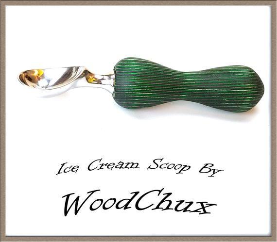 Cuchara de helado Cortador de madera o pizza colorgrain hecho a mano Acero inoxidable pesado 207   – Handmade Ice Cream Scoops