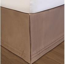 Matte Satin Adjustable Bed Skirt - Queen (Taupe)