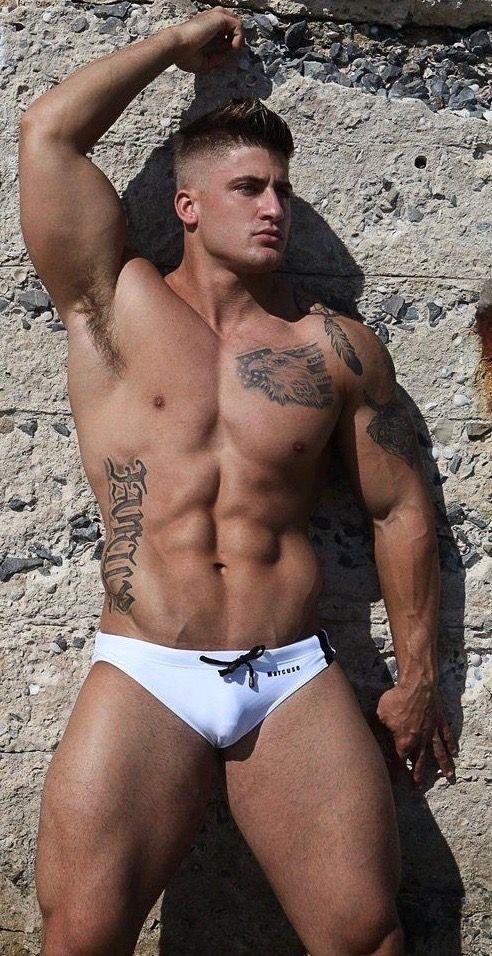 6ecbe11182 Pin by Hugh Jardon on Trunks   Hot guys, Guy pictures, White speedo