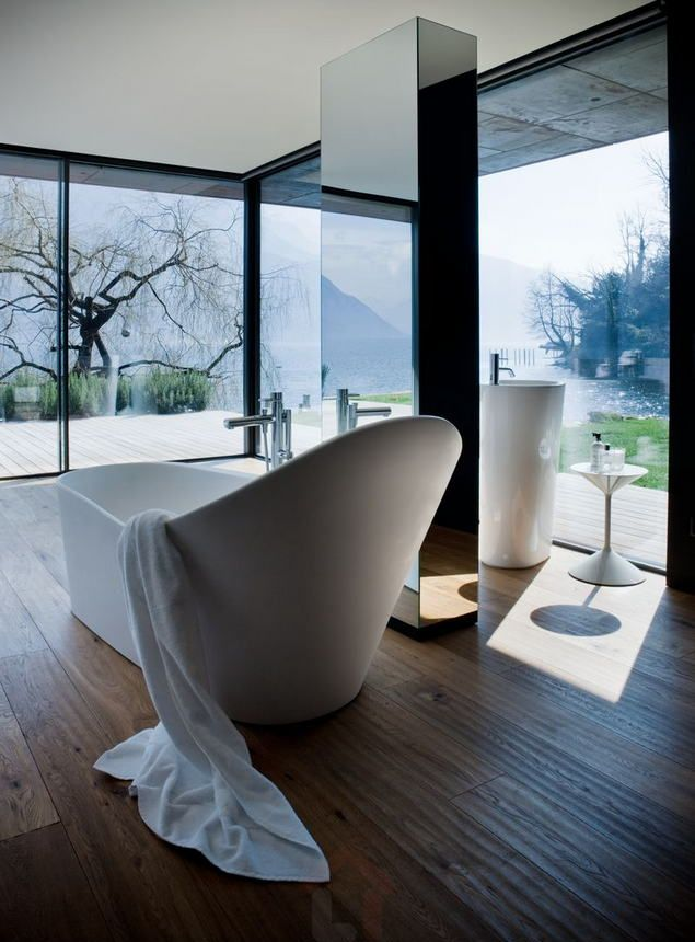 "LAUFEN bathroom culture  ""Palomba Collection 2012 is a synthesis of organic and natural forms. Its inspiration comes from coastal inlets and cliffs; from observing the action of the sea against the rocks. Thus the idea of forms that seem sculpted and polished by water. Another must for this collection is the new bathtub, our 'water nest' where the organic and plastic shapes of Palomba Collection merge to new technologies"".    Ludovica+Roberto Palomba"