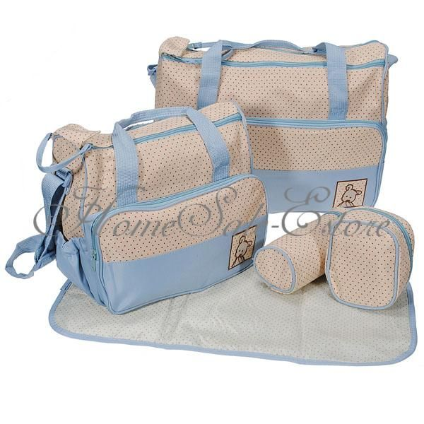 5pcs-Multi-Function-Baby-Pad-Diaper-Nappy-Changing-Tote-Handbag-Mummy-Mother-Bag