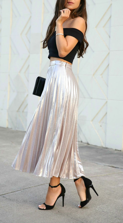 The BEST Metallic Skirt Under $100