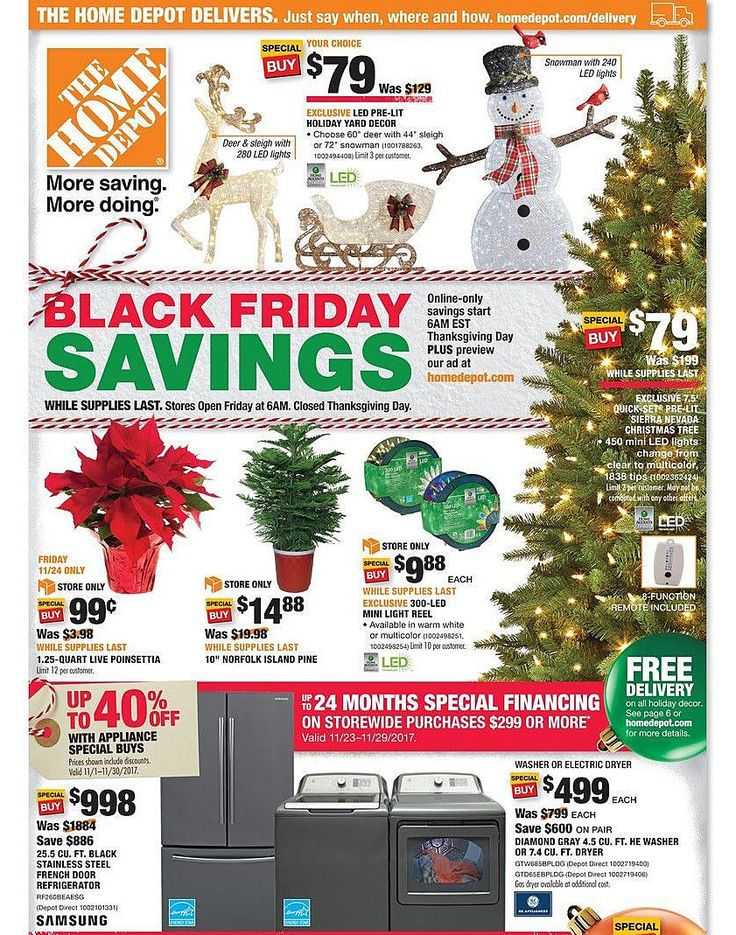Home Depot 2019 Black Friday Ad (With images) Home depot