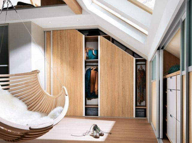 25 best images about id es placard sous pente on pinterest. Black Bedroom Furniture Sets. Home Design Ideas