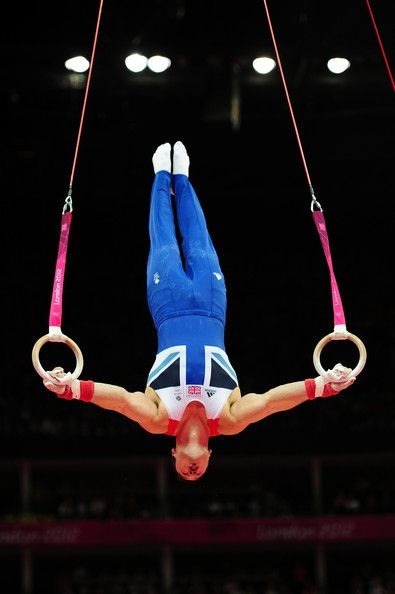Kristian Thomas of Great Britain performs on the Artistic Gymnastics Men's Rings…
