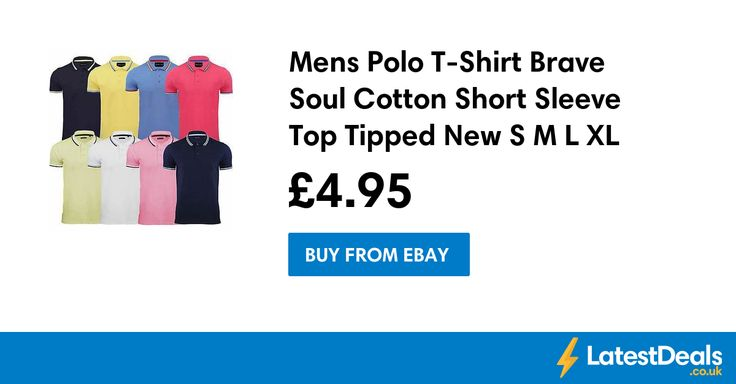 Mens Polo T-Shirt Brave Soul Cotton Short Sleeve Top Tipped New S M L XL XXL, £4.95 at ebay
