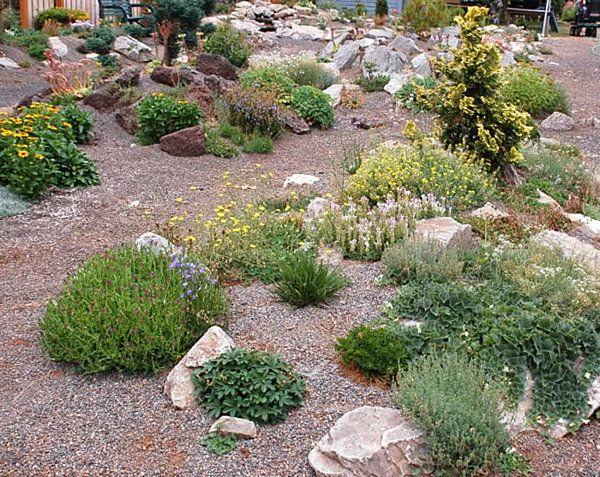 Haus Hof Mit Steinen Und Grünen Pflanzen   53 Erstaunliche Bilder Von  Gartengestaltung Mit Steinen