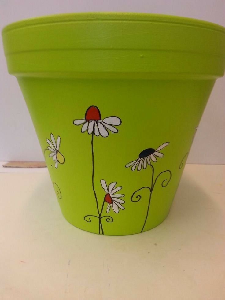 Pin By Victoria York On Yardart Decorated Flower Pots Painted Plant Pots Paint Garden Pots