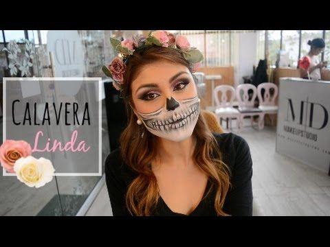 Calavera linda ! ♡ Tutorial HALLOWEEN- Pautips - YouTube
