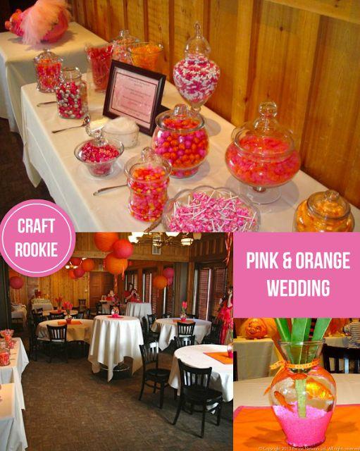 Craft Rookie: Pink & Orange Wedding