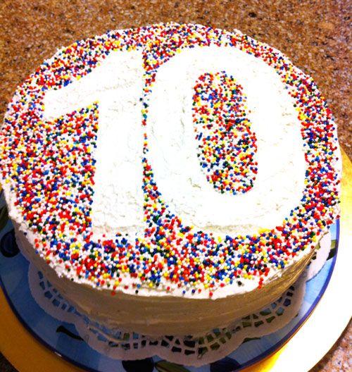 gâteau - 10 ans