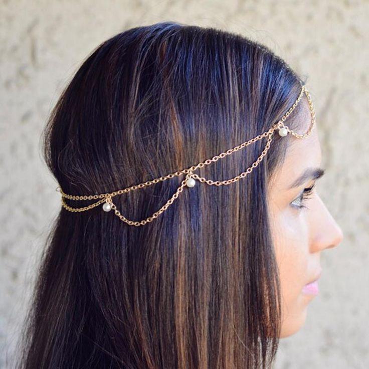 Mulheres Headbands Indiano Boho Moda Noiva Cabelo Jóias Cabelo Decoração Cabeça de Metal Casamento Pedaço Cabeça Jóias Cadeia Cabelo T004 em Jóia do cabelo de Jóias & Acessórios no AliExpress.com | Alibaba Group
