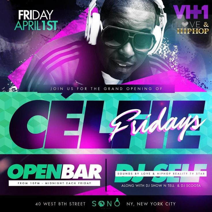TONIGHT!!!! TONIGHT !!!! TONIGHT!!!! THE NEW HOT WEEKLY IN THE CITY #CELFIEFRIDAYS @ #SONONYC @sononyc ‼️ OPEN BAR FROM 10PM-11:30PM LADIES FREE B4 12‼️ GRAND OPENING APRIL 1ST ***MUSIC BY @djself FROM POWER 105.1 also @djscoota and @djshowntell >>>>>>> RSVP NOW AT: http://www.areyouvip.com/event/celfie-fridays-sono/ <<<<<<<<<<<< @areyouvip #areyouvip #areyouvipevents #celfiefridays #highlineballroom #hiro #lifestylesaturdays #milkriver #prettyrunthecity #thecelebritypromoter #thegoodnei