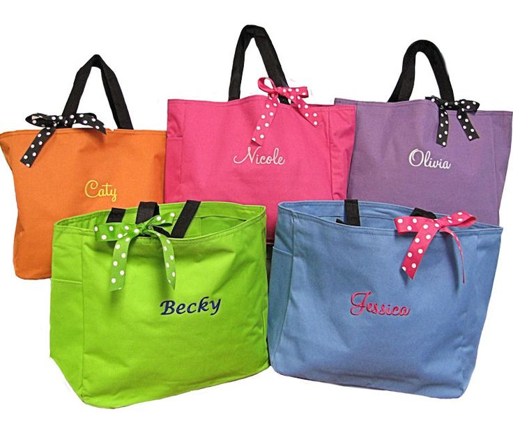 65 best unique gift ideas images on pinterest bags brides and bridesmaid tote bag or monogrammed tote bag with optional bow bridesmaid gift bagsbridesmaid invitationsbridesmaidsgroomsman giftspersonalized negle Gallery