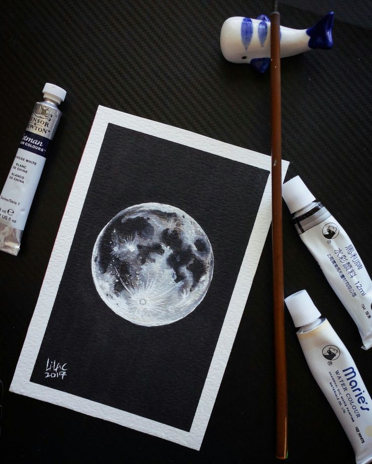 mark my first try about cosmos.   #moon #planet #watercolor follow my ins: lilacbunny7020