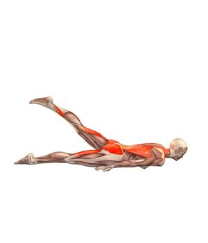 #EKOPADA SALAMBHASANA Locust pose with left leg up | YOGA.com