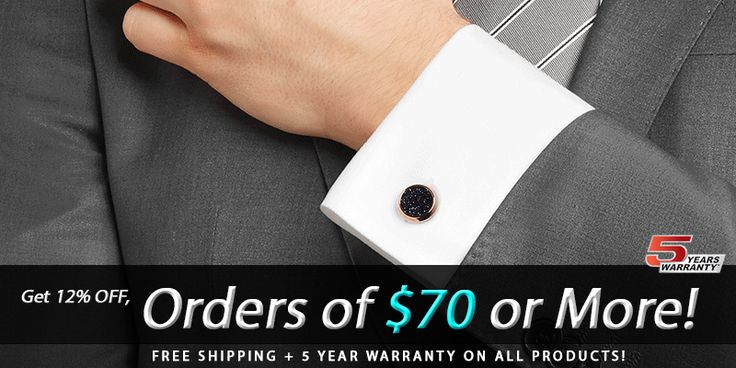 Get 12% Off on #Men #Accessories For Orders Over $70 at AusCufflinks.