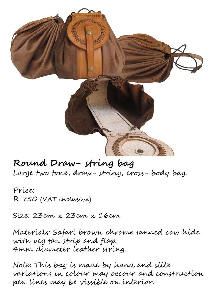 DRAW STRING LEATHER BAG