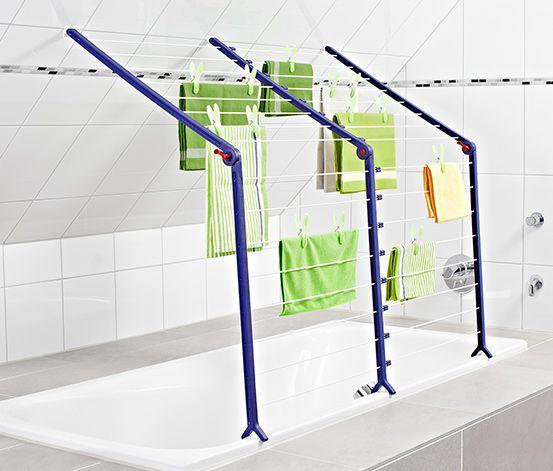 Sušák na prádlo k umístění na vanu