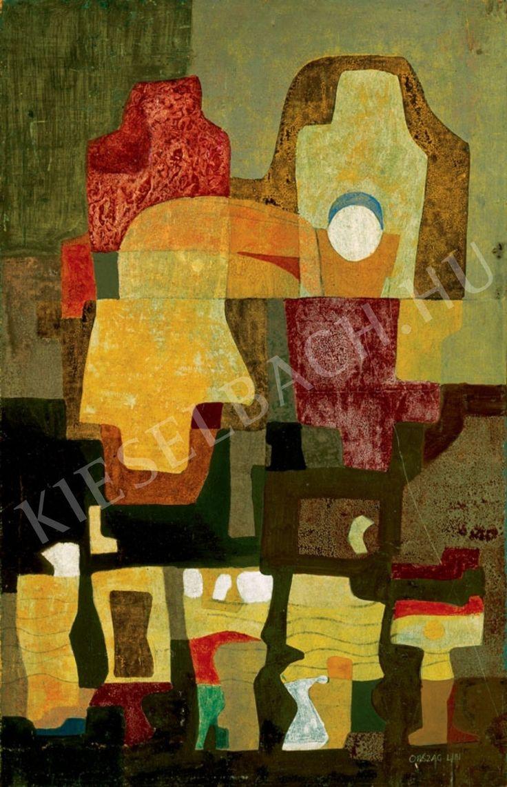 Ország Lili (1926-1978) Kompozíció sárgákkal (25.5 x 40 cm) című alkotásának jellemzői - Kieselbach