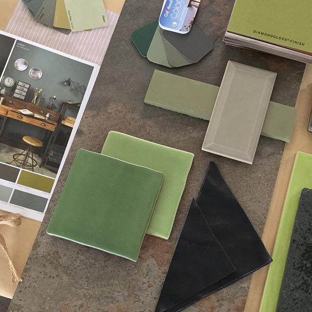 Green with Envy #tiles #ontrend #lovetiles #green #inhousedesign #southerntile