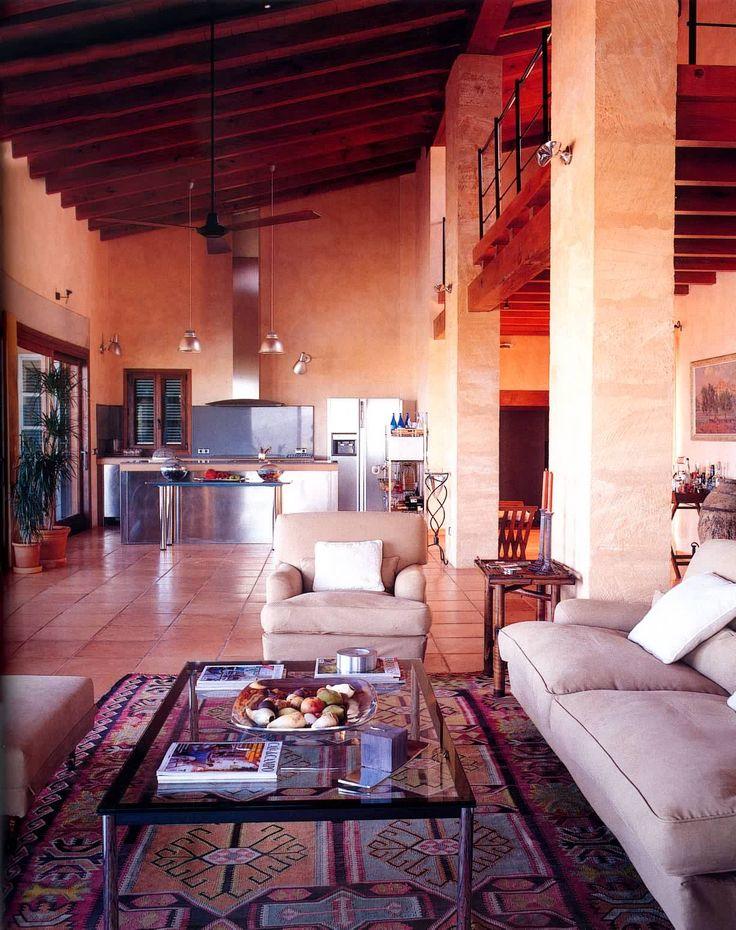 Casas rustico cocina sala de estar encimeras for Sala de estar kawaii
