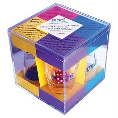 Got Liquor Adult Alcohol Drinking Game Shot Glass 4 Drinking Games Set   eBay