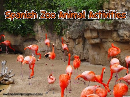 Spanish zoo animals - printable cards, songs, websites to teach animals and related vocabulary. http://spanishplayground.net/spanish-zoo-animal-activities/