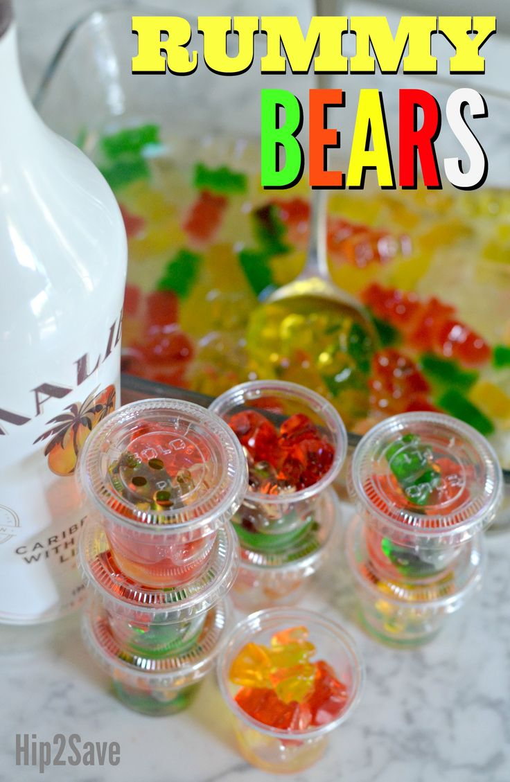 Try soaking Gummy Bears in your favorite Rum for an excellent tasting adult treat to liven up your next party!