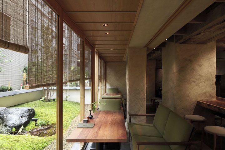 Традиционные строительные технологии в чарующем интерьере ресторана Shubari от студии Design Ground 55, Осака, Япония