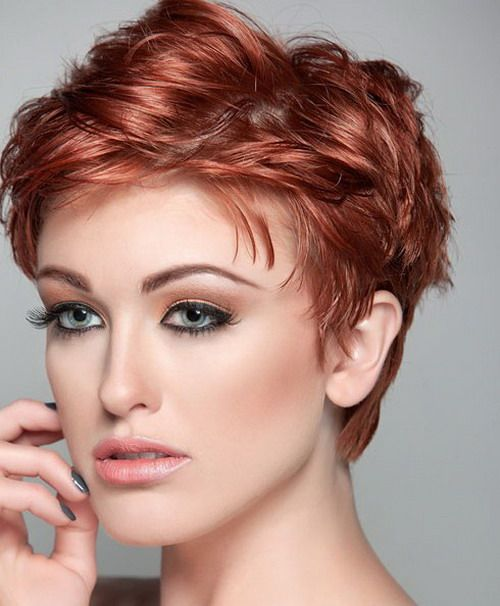 Choppy Short Hairstyles 2014 for Oval Faces