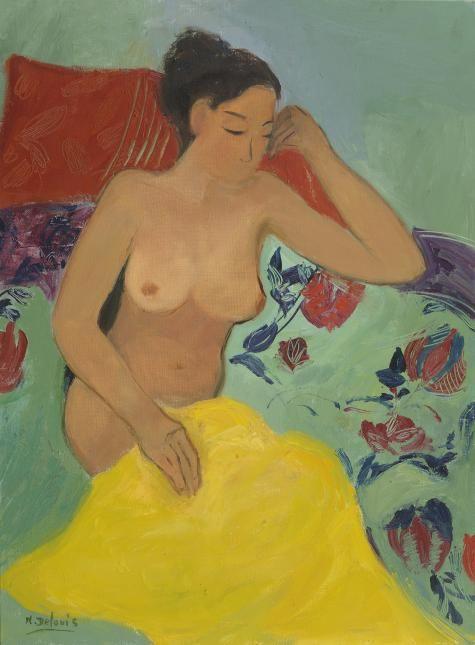 Nancy Delouis - La Serviette Jaune - Messum's | Fine Art Est.1963.