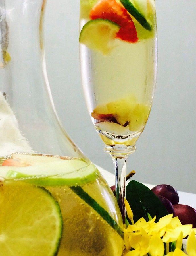 Drinque refrescante com álcool