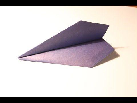 """Оригами. Самолет из бумаги """"Ястреб"""""""