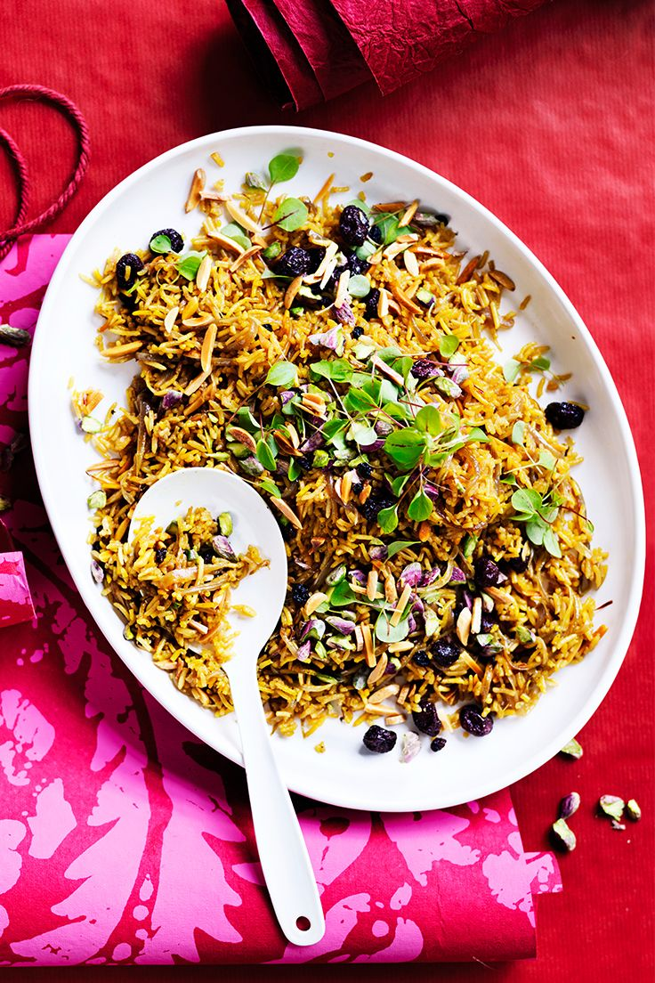 This gorgeous rice dish pairs with meat and vegetarian mains for a crowd-pleasing Christmas meal.
