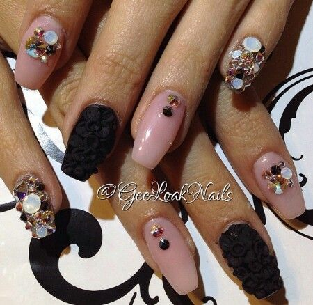 1000 images about party nails ii on pinterest nail art - Color rosa palo ...