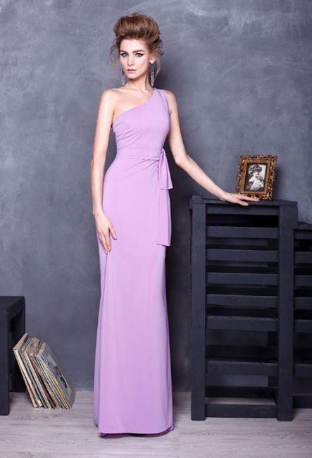 Лиловое платье в пол | Purple floor-length dress